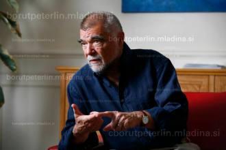 Portrait of Stipe Mesić, president of Croatia