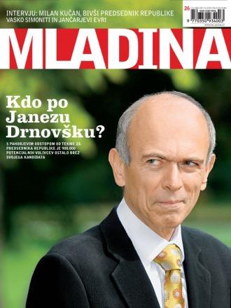 Janez Drnovšek on a cover page of Mladina weekly 26/2007