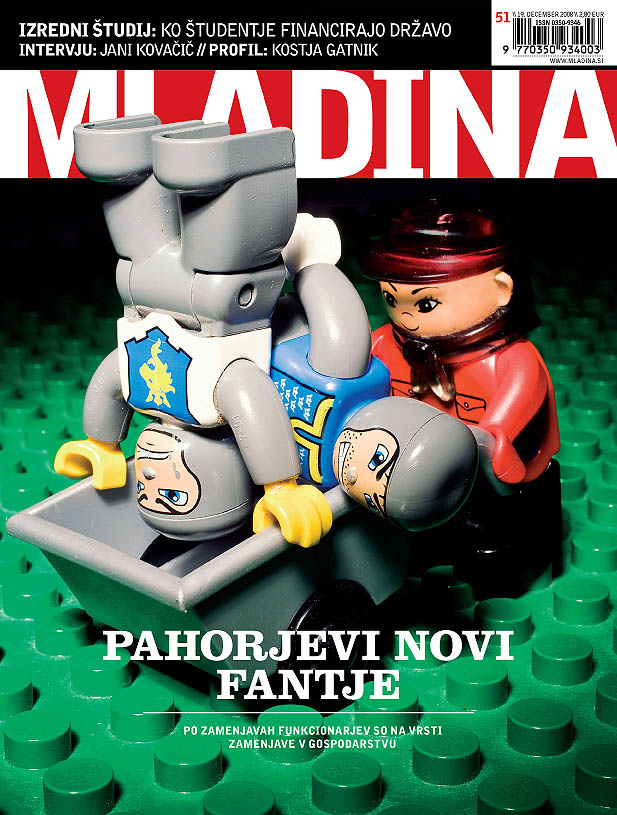 cover page of Mladina weekly 51/2008. Creative director Robert Botteri, graphic designer Ivian Mujezinović Kan, photography Borut Peterlin