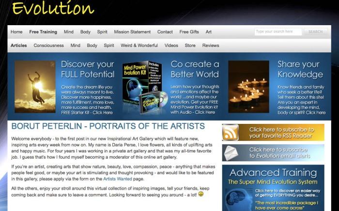 presentation of artist Borut Peterlin