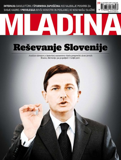 Mladina cover page 39/2009