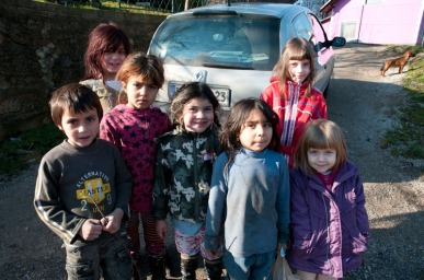 My daughters in Roma settlement