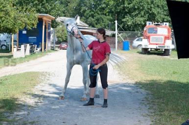 Živa and her horse OKI at Hippodromme Stožice, Ljubljana, Slovenia