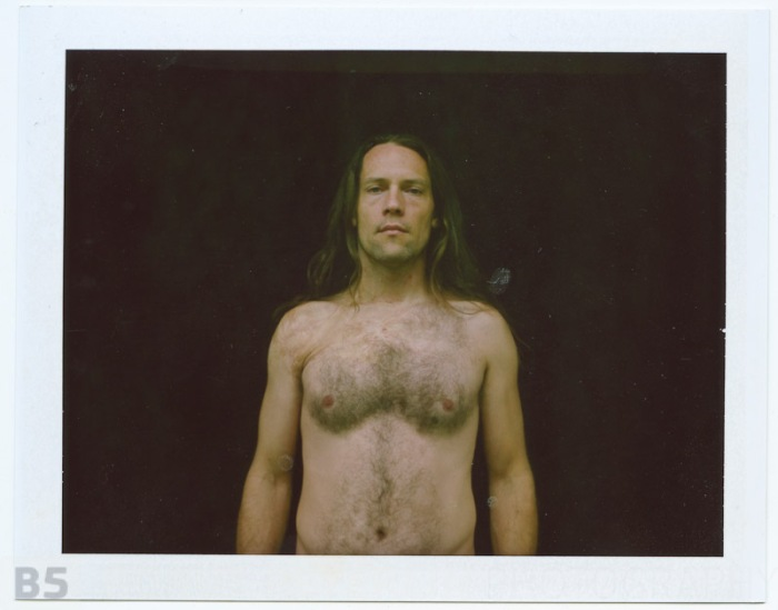 Self-portrait taken with Mamiya RB67 camera and Polaroid fp-100c.