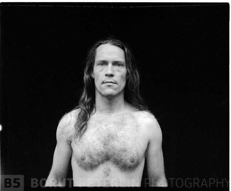 Self-portrait taken with Zenza Bronica ETRS 645 camera and Efke 100 film.