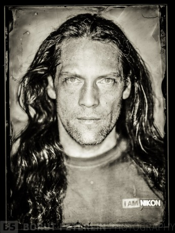 "A self-portrait. Misa Keskenovic came up with his own formula for wet plate collodion negative and I've made a set up with my about 7000Ws studio flashes, Plaubel 5x7"" camera and voigtlander Helliar 300mm f/4,5."