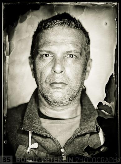 Misa Keskenovic, a portrait on a wet plate collodion negative. Photo: Misa & Borut
