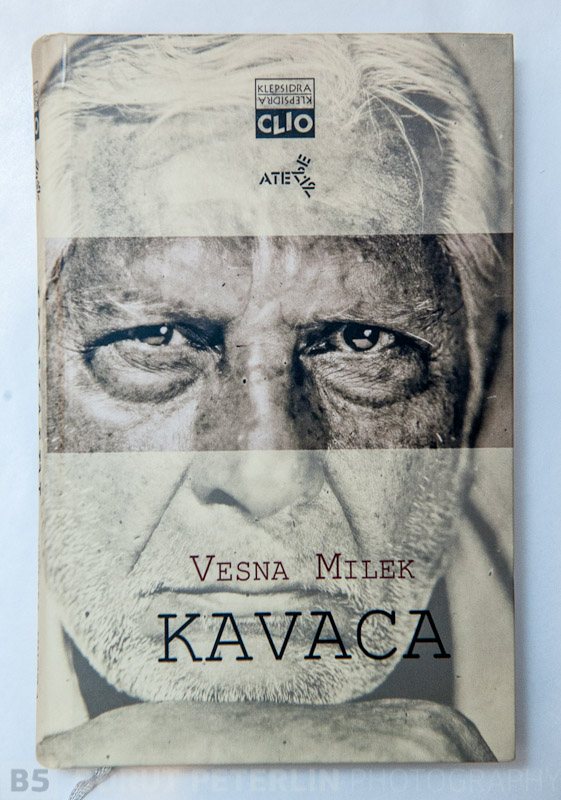 Writer Vesna Milek wrote a biography of an actor Boris Cavazza and for a book in Serbian language they used my portrait.