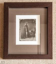 Wet Plate collodion on glass, size 13x18cm, framed. /// Mokri kolodij na steklu - ambrotipija, velikosti 13x18cm, v okvirju.