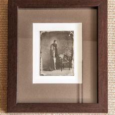 Wet Plate collodion on glass, framed. /// Mokri kolodij na steklu (ambrotipija) v okvirju.