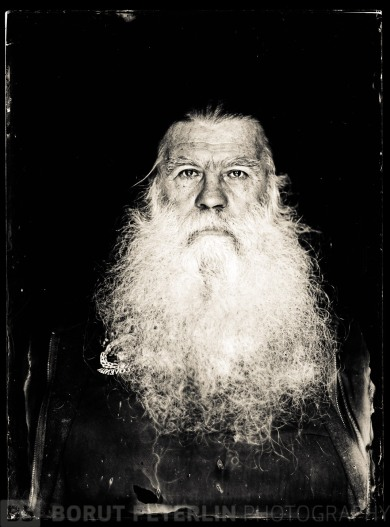 Boris Primožič, a photographer, portrayed in wet plate collodion technique by Borut Peterlin