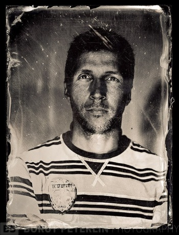 Gregor Cokan, a photographer, portrayed in Wet plate collodion technique