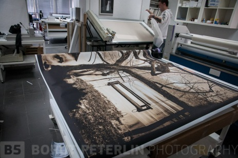 Two prints will be size 1,5 x 2 meters.