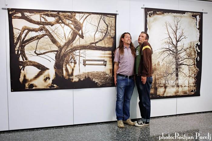Myself and Misa Keskenovic, doing chameleon thing, blending with the landscape.