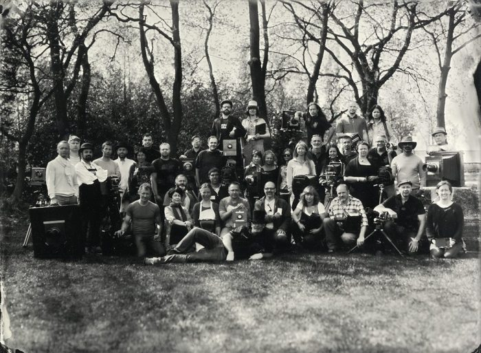 Group photo of participants at European Collodion Weekend by Alex Timmermans