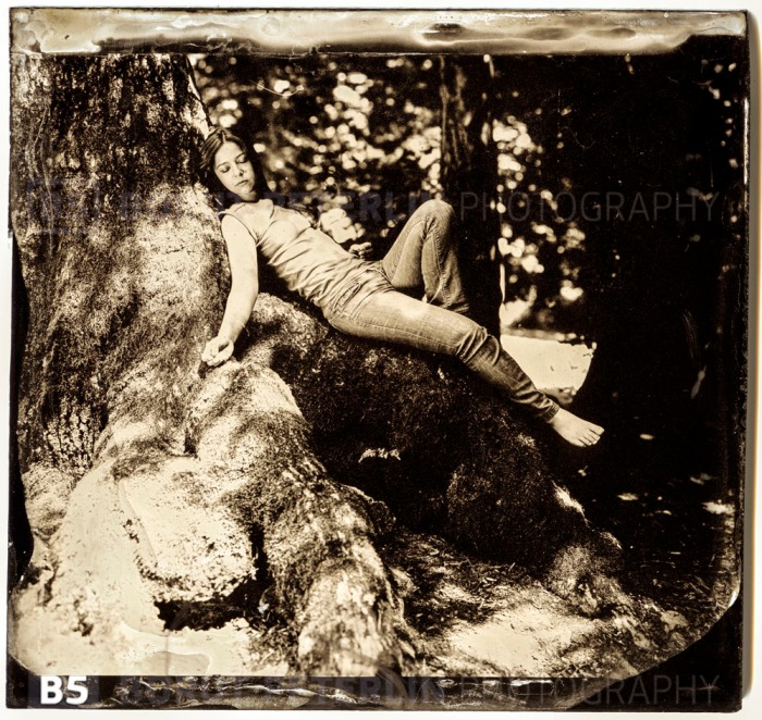 Severa Gjurin portrayed in Wet Plate Collodion technique by Borut Peterlin