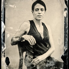 My wife Alenka. Also on this one I used KI and KBr collodion and no crepe lines.