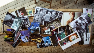 Books that I've done with my photography. These are mainly handmade books, ten of them are different versions of 5am project.
