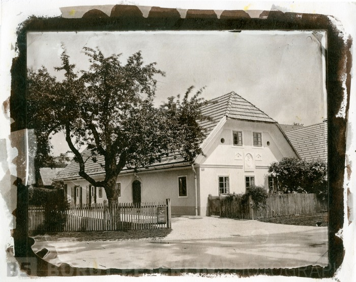 A toned salt print from a wet plate collodion negative.