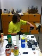 Peter Kunz at work