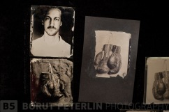 A collodion ambrotype transfer to black paper - pannotype