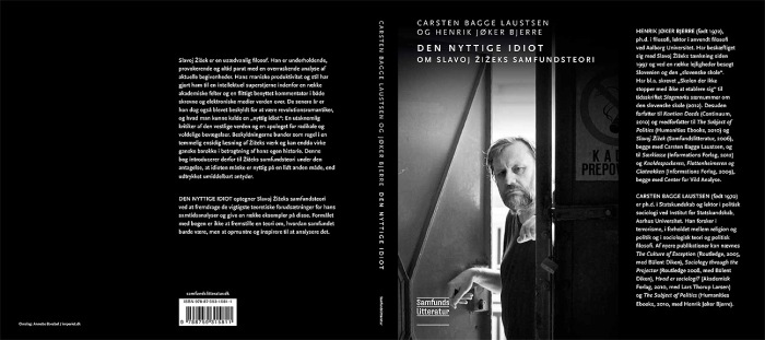 A cover of a book of a philosopher Slavoj Žižek by publishing house Samfunds Letteratur