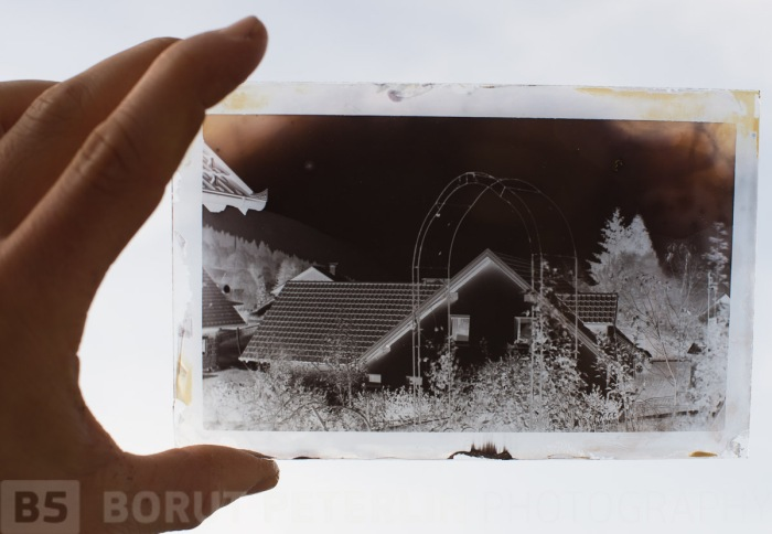 Dry preserved collodon plate, exposure 75min, f/11 and exposure meter was showing about 9EV. This was done under tutorial of Jeroen de Wijs.