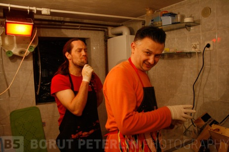 Borut Peterlin and Robert Gojević on a private workshop at his flat.
