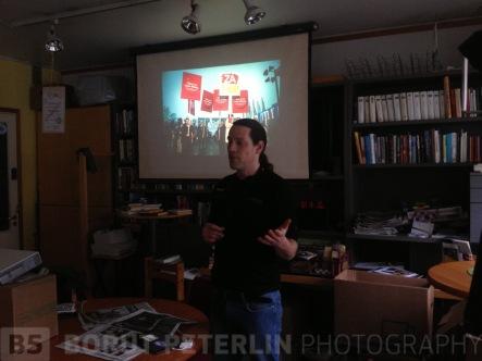 Giving a talk at Elokolo