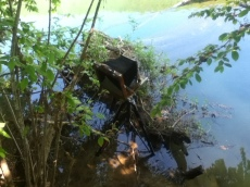 Camera set up in a mud.