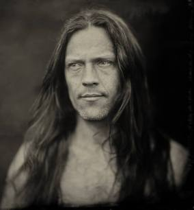 Photo: Alex Timmermans at European Collodion Weekend 26x26cm black glass ambrotype lens Dallmeyer 3a at f4 exposure time 2 seconds