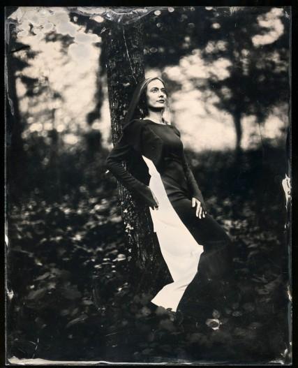 Alenka Slavinec, portrayed by Borut Peterlin in wet plate collodion technique.
