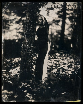 the first, underexposed ambrotype