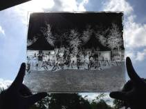 """A wet plate collodion negative format 10x12"""" of a group of collodion artists at European Collodion Weekend in Eindhoven, NL. The negative was not redeveloped or intensified. This density was achieved with only one development. Courtesy of Melanie-Jane Frey"""