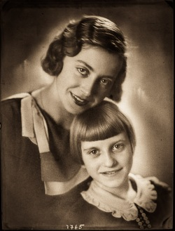 Božena Pelikan with her senior sister, taken by her father Josip Pelikan.