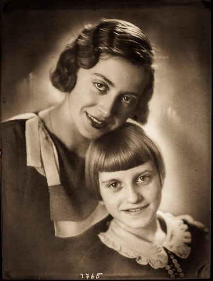 Božena Pelikan with her senior sister, taken by her father Josip Pelikan.