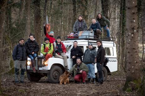 From bottom left: Arne Hodalič, Katja Bidovec, Ivana Petan, Boštjan Pucelj, Bojan Brecelj, Breda Špacapan Keskenović, Miša Keskenović, Senad Begić, Tomo Veršak, Anže Grabeljšek, Adrijan Pregelj, Borut Peterlin.