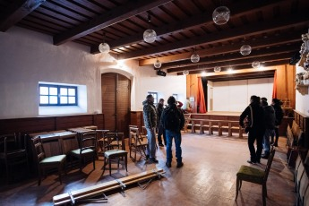 We visited a building were the festival of analogue photography could have talks and other gatherings. Photo Tomo Vrešak
