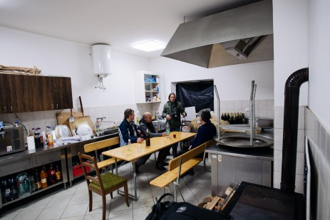 In the building there is a huge cooking facilities. Photo Tomo Vrešak