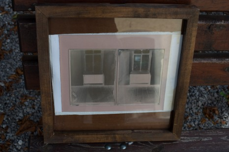 Albumen printing of two collodion negatives with different densities.
