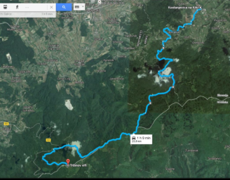 Route that we took. It's not off roading, these are public roads, although some parts aren't for every vehicle.