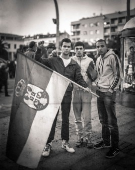 Portrait taken as a part of a feature reportage about Montenegro in the context of protests and demads of pre-elections.