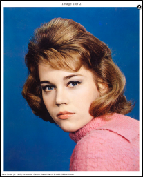 Jane Fonda (b. 1937) three-color Carbro. Dated March 3, 1960. 526 x 432 mm. (http://www.photoconservation.com/)